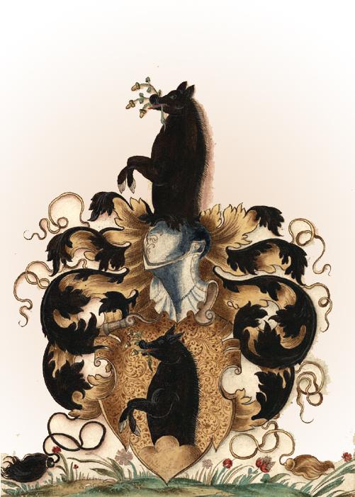 Герб семьи Ебер из Нюрнберга. 1560 г.