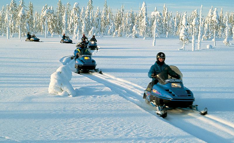 Снегоходы. Финляндия (Suomi) Лапландия