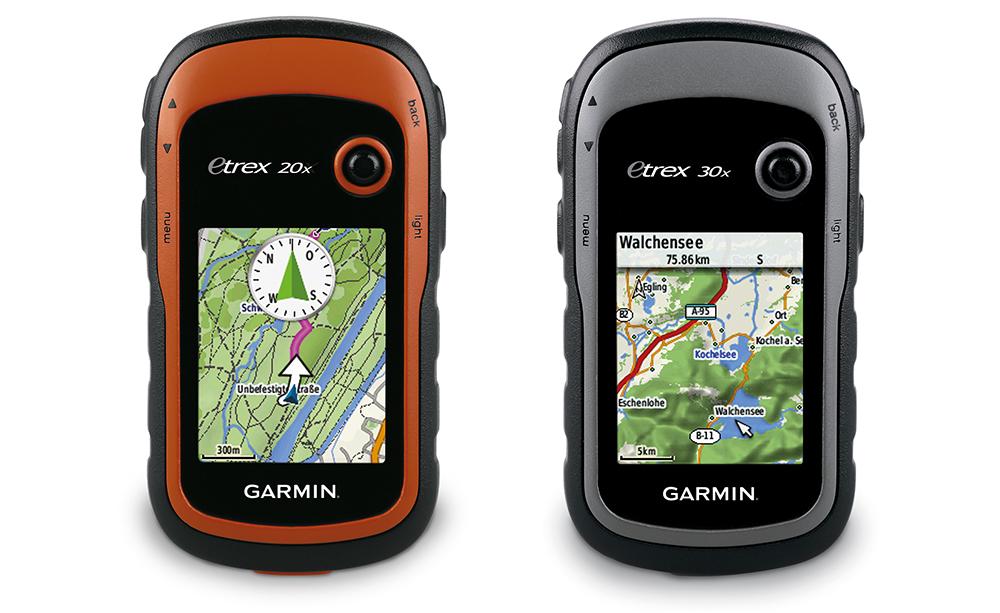 Новые туристические навигаторы eTrex 20x и 30x от Garmin