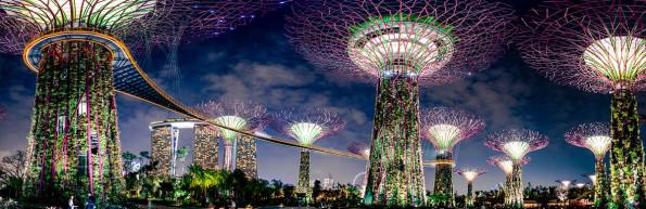 "Тропический парк ""Сады у залива"" (Gardens by the Bay) в Сингапуре"